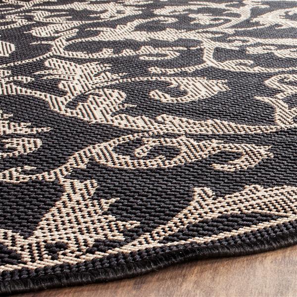"Safavieh Decorative Courtyard Rug - 2' x 3' 7"" - Black/Sand"