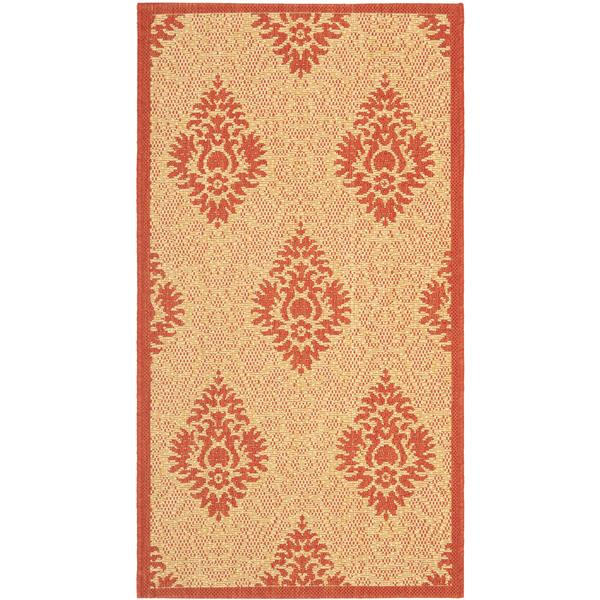 "Safavieh Decorative Courtyard Rug - 2' x 3' 7"" - Natural/Red"