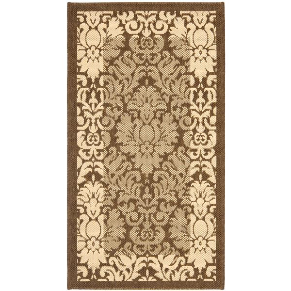 "Safavieh Decorative Courtyard Rug - 2' x 3' 7"" - Brown/Natural"