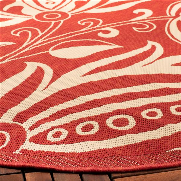"Safavieh Decorative Courtyard Rug - 2' x 3' 7"" - Red/Natural"