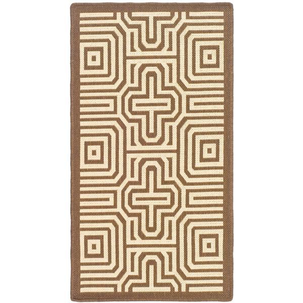 "Safavieh Decorative Courtyard Rug - 2' x 3' 7"" - Chocolate/Natural"