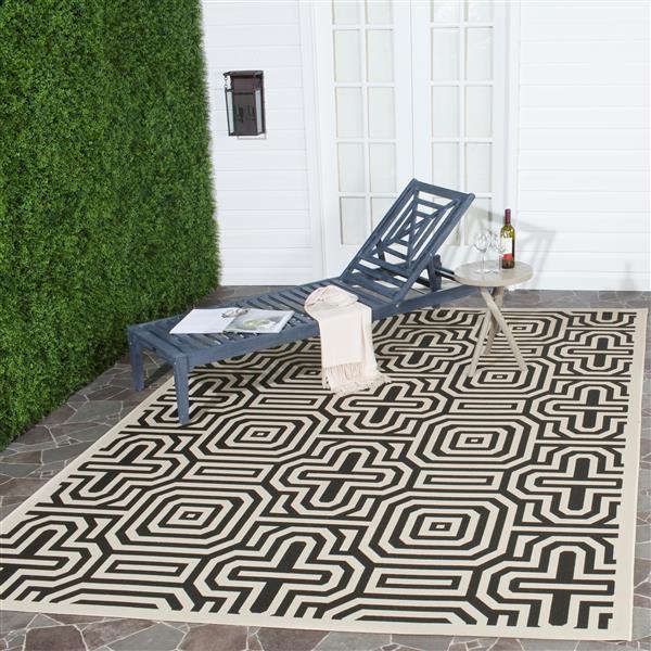 "Safavieh Decorative Courtyard Rug  - 2' x 3' 7"" - Sand/Black"