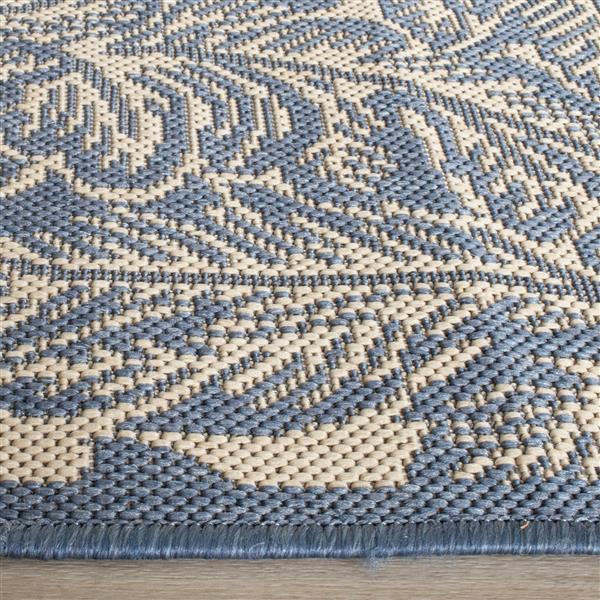 "Safavieh Decorative Courtyard Rug - 2' x 3' 7"" - Natural/Blue"