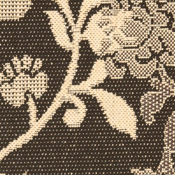 "Safavieh Decorative Courtyard Rug - 2' x 3' 7"" - Black Natural/Brown"