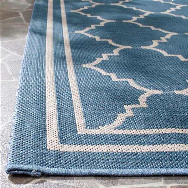 """Safavieh Decorative Courtyard Rug - 2' x 3' 7"""" - Blue/Beige"""