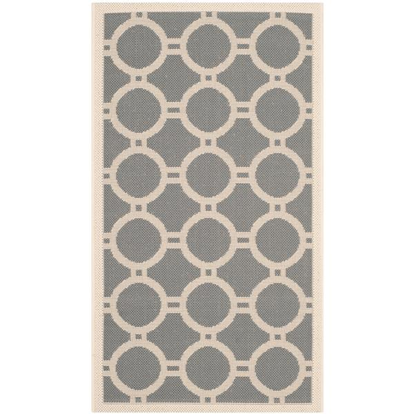 "Safavieh Decorative Courtyard Rug - 2' x 3' 7"" - Anthracite/Beige"