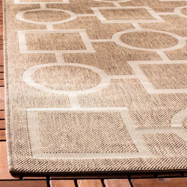 "Safavieh Decorative Courtyard Rug - 2' x 3' 7"" - Brown/Bone"