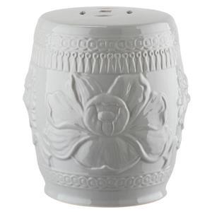 Safavieh Little Lotus Garden Stool - Ceramic - Grey