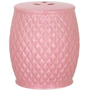 Safavieh Harlequin Kids Garden Stool - Ceramic - Pink