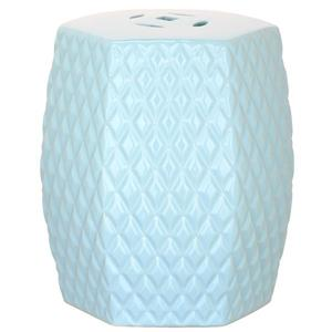 Safavieh Diamonds Kids Garden Stool - Ceramic - Blue