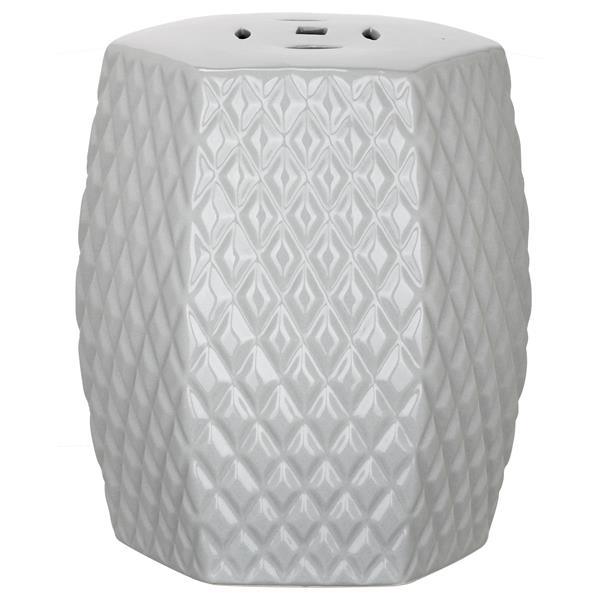 Safavieh Diamonds Kids Garden Stool - Ceramic - Grey
