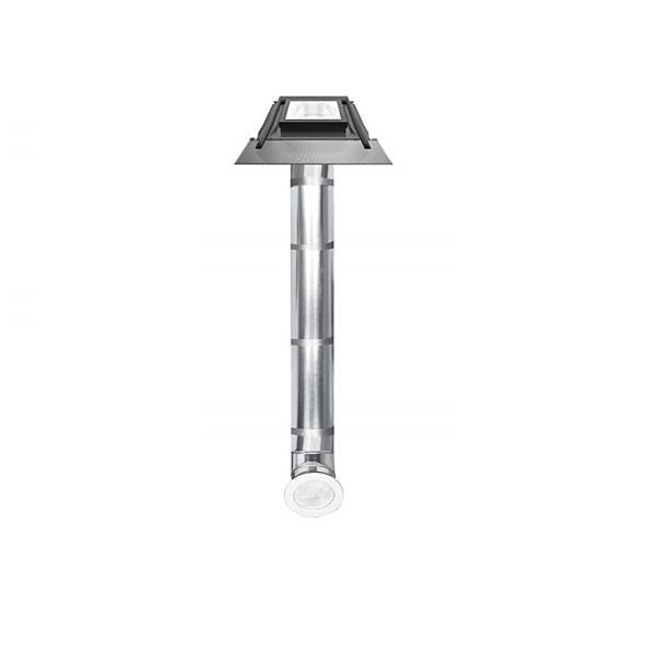 "Fakro Light Tunnel with Flashing - 10"" - Aluminum - Gray"