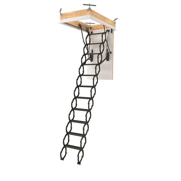 "Fakro Scissor Attic Ladder - 22.5"" x 54"" - Steel - Gray"