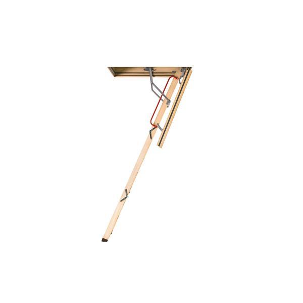 "Fakro Folding Attic Ladder - 30"" x 54"" - Wood - Clear"