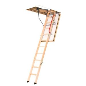 "Fakro Folding Attic Ladder - 30"" x 54"" - Wood - Clear"