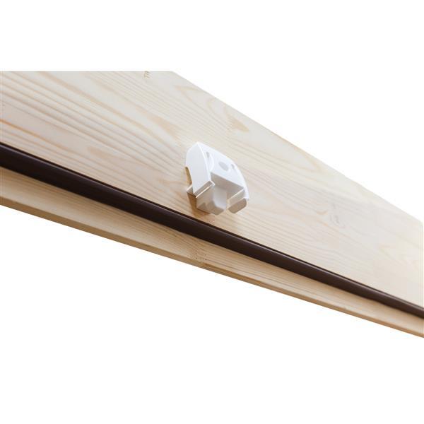 "Fakro Folding Attic Ladder - 25"" x 56.5"" - Steel - Gray"