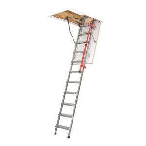 "Fakro Folding Attic Ladder - 27.5"" x 51"" - Steel - Gray"