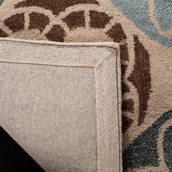 Safavieh Wyndham Rug - 8' x 10' - Wool - Beige/Blue