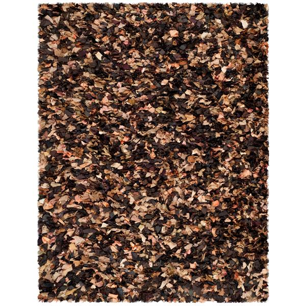 Safavieh Rio Shag Rug - 8' x 10' - Polyester - Brown/Multi