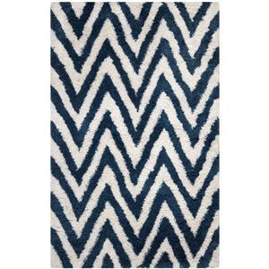 Safavieh Shag Rug - 8' x 10' - Acrylic - Ivory/Blue