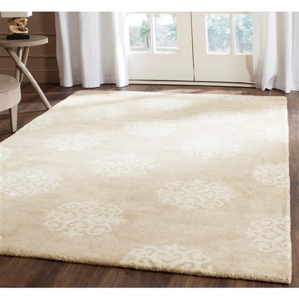 Safavieh Soho Rug - 9.5' x 13.5' - Wool - Beige/Ivory