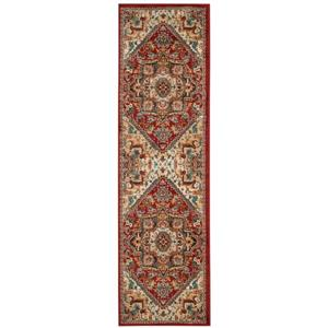 Summit Rug - 2.3' x 12' - Polypropylene - Red/Dark Grey