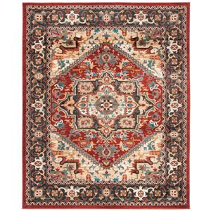 Summit Rug - 10' x 14' - Polypropylene - Red/Dark Grey