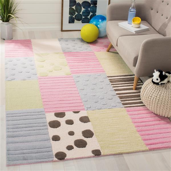 Safavieh Kids Rug - 2' x 3' - Wool - Blue/Pink