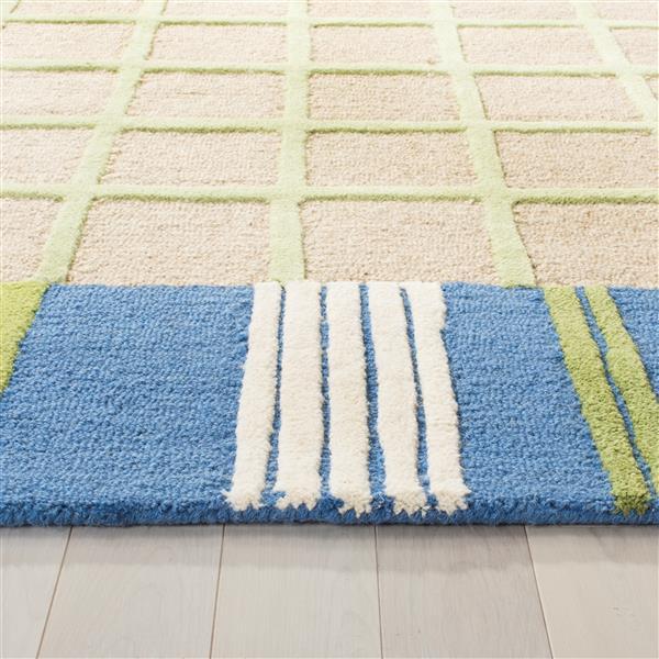 Safavieh Kids Rug - 3' x 5' - Wool - Taupe/Blue