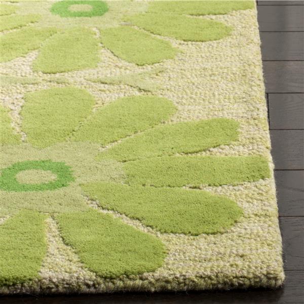 Safavieh Kids Rug - 2' x 3' - Wool - Beige/Green