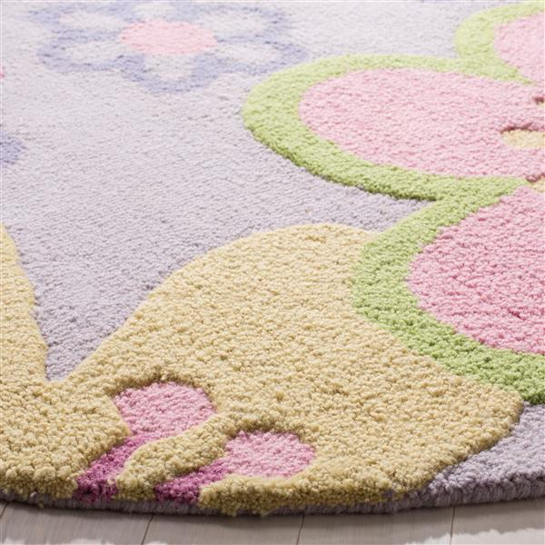 Safavieh Kids Round Rug - 4' x 4' - Wool - Multi