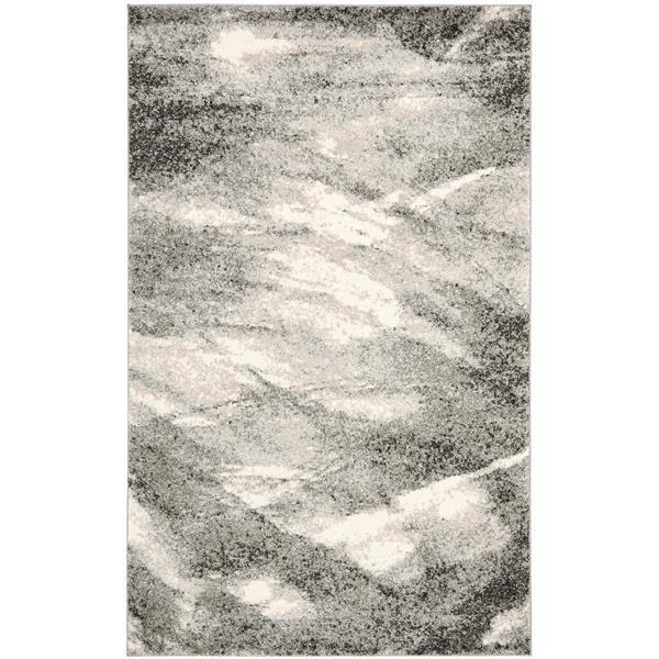 Safavieh Retro Rug - 4' x 6' - Polypropylene - Grey/Ivory