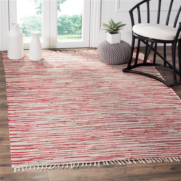 Safavieh Rag Rug Square Rug - 6' x 6' - Cotton - Red/Multi