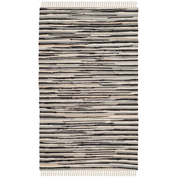 Safavieh Rag Rug - 4' x 6' - Cotton - Black/Multi