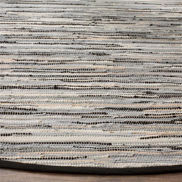 Safavieh Rag Rug - 2.3' x 8' - Cotton - Black/Multi