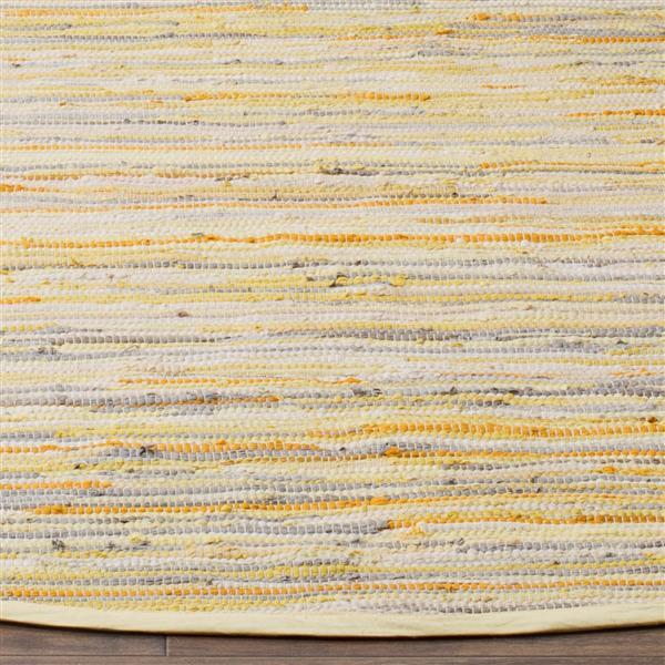 Safavieh Rag Rug - 2.3' x 8' - Cotton - Gold/Multi