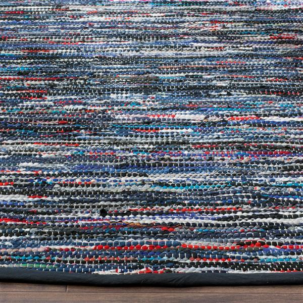 Safavieh Rag Rug - 2.3' x 8' - Cotton - Blue/Multi
