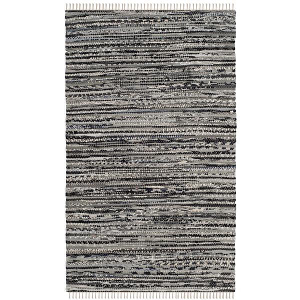 Safavieh Rag Rug - 4' x 6' - Cotton - Grey
