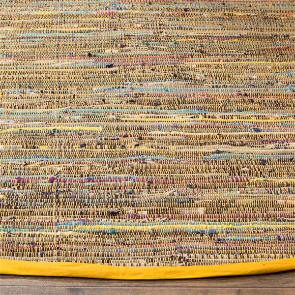 Safavieh Rag Rug - 2.3' x 8' - Cotton - Yellow/Multi
