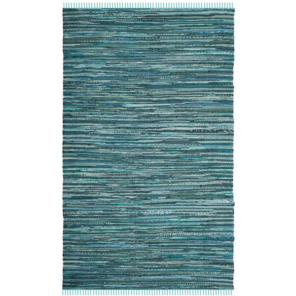 Safavieh Rag Rug - 5' x 8' - Cotton - Turquoise/Multi