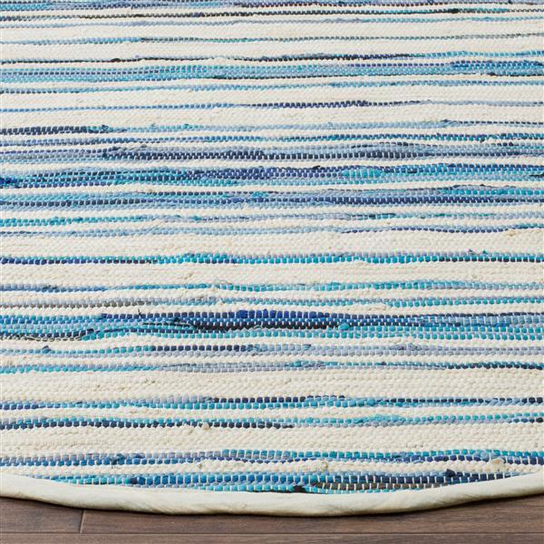 Safavieh Rag Rug - 3' x 5' - Cotton - Ivory/Blue