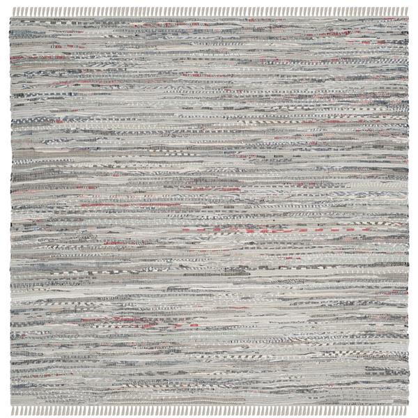 Safavieh Rag Rug Square Rug - 6' x 6' - Cotton - Grey