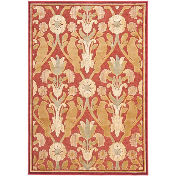 Safavieh Paradise Rug - 4' x 5.6' - Viscose - Red