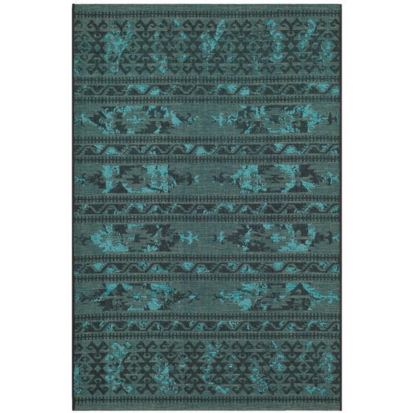 Safavieh Palazzo Rug - 4' x 6' - Polypropylene - Black/Turquoise