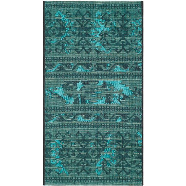 Safavieh Palazzo Rug - 2' x 3.5' - Polypropylene - Black/Turquoise