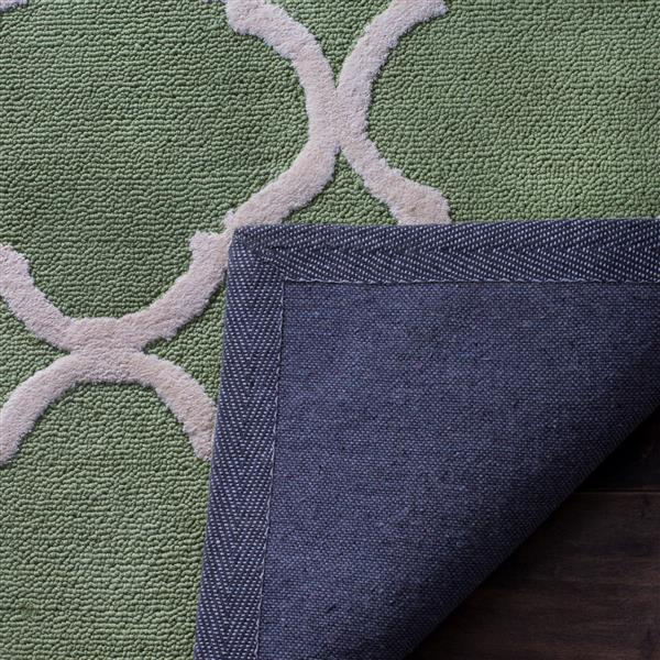 Safavieh Newport Rug - 2.3' x 10' - Cotton - Green/Ivory
