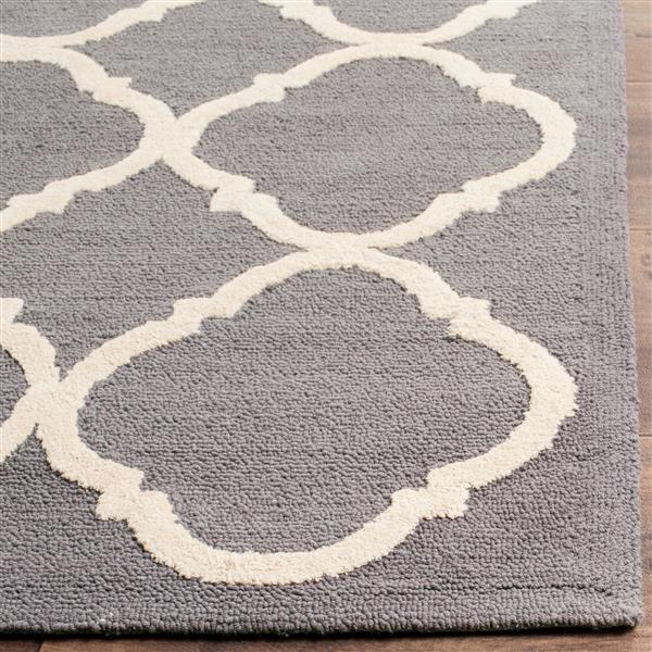 Safavieh Newport Rug - 2.3' x 12' - Cotton - Grey/Ivory