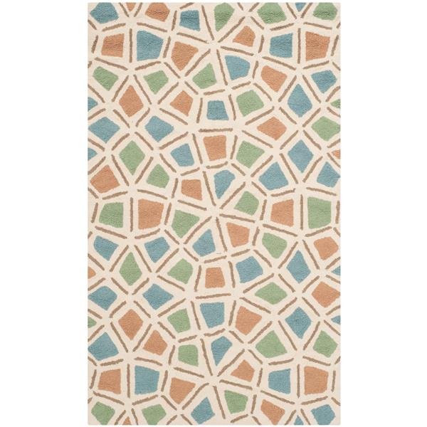 Safavieh Newport Rug - 2.5' x 4.3' - Cotton - Blue/Green