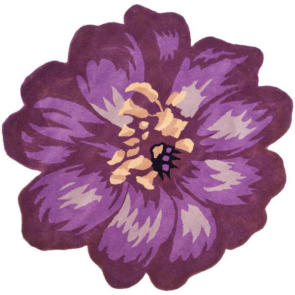 Safavieh Novelty Round Rug - 4' x 4' - Wool - Lilac