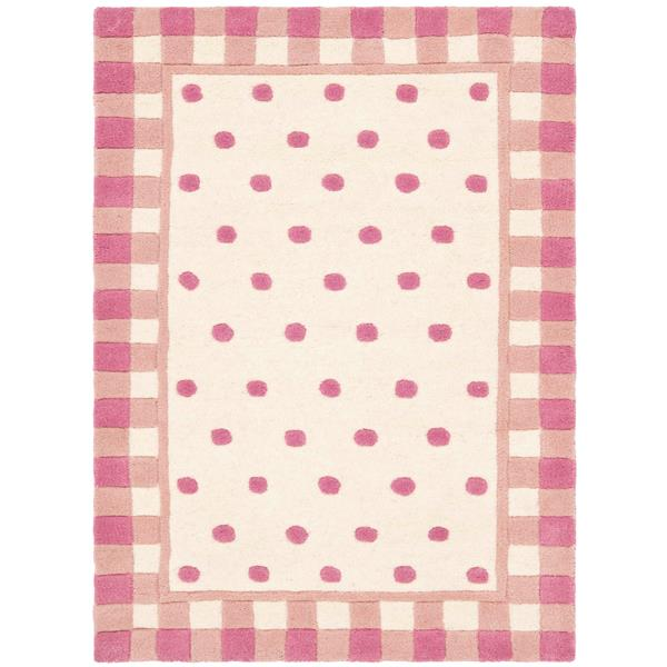 Safavieh Novelty Rug - 2' x 3' - Wool - Ivory/Pink